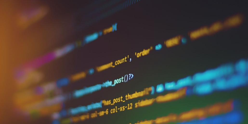 closeup view of coding on a screen