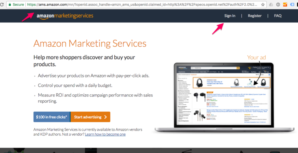 Amazon Marketing Services Login