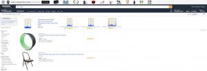 Amazon paid search results using yoga keyword