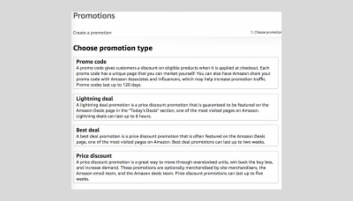 Types of Amazon Advertising Promos