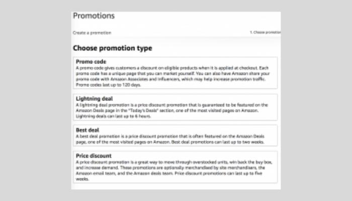 Types of Amazon Advertising Promos