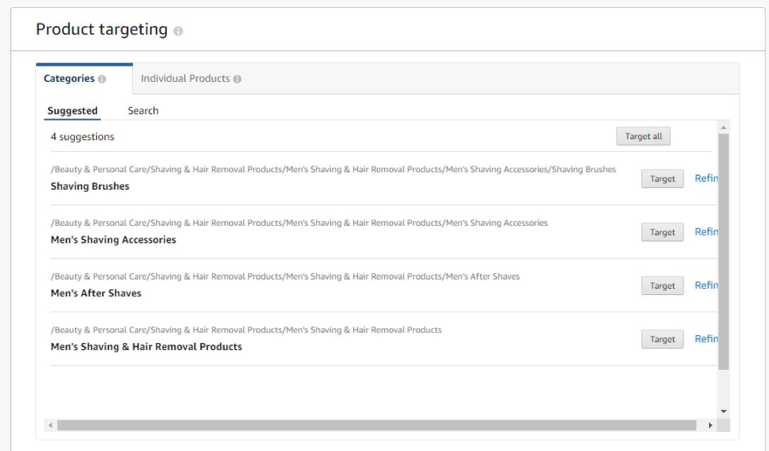 product targeting on amazon
