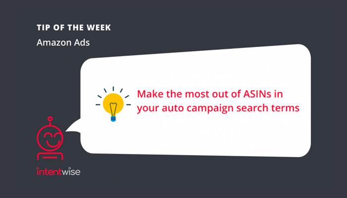 Tip of the week ASINs in Auto Campaigns