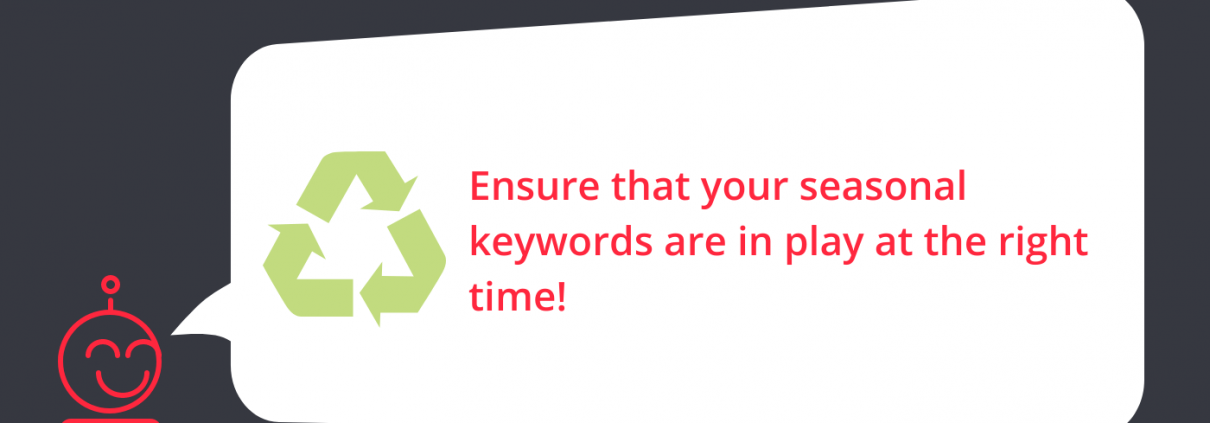 Amazon Advertising Tip of the week Pay attention to your seasonal keywords