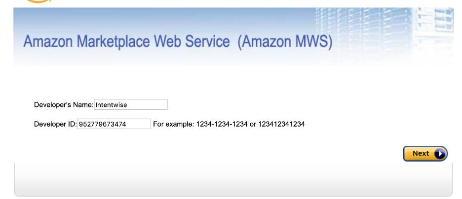 Intentwise MWS developer access